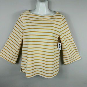 Old Navy Yellow Top Blouse Women's Size XS